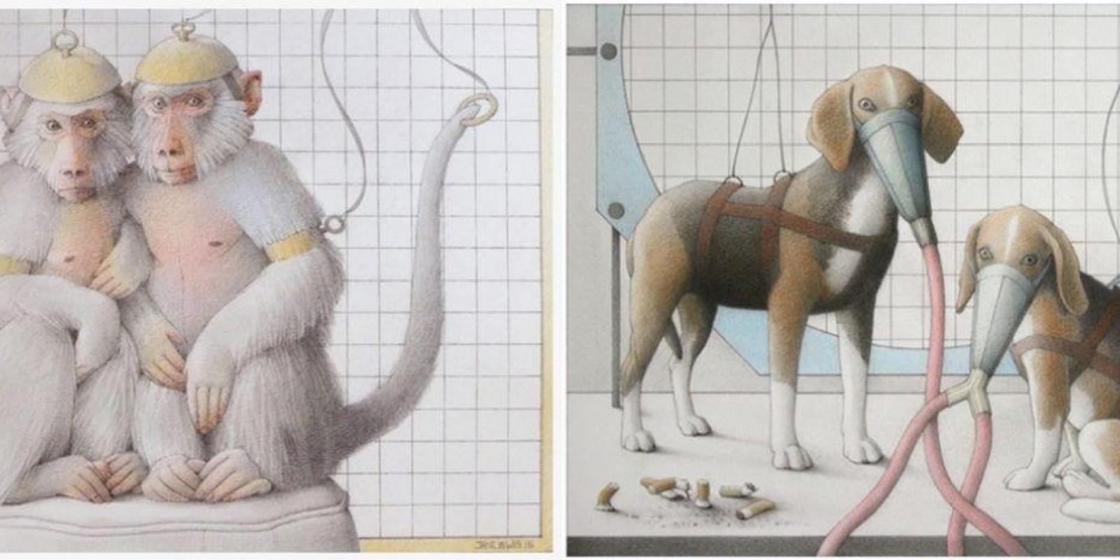 Assim os laboratórios torturam animais