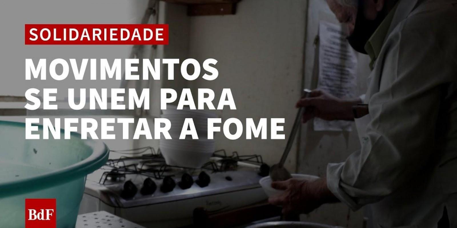 Movimento de população em situação de rua luta contra a fome em SP